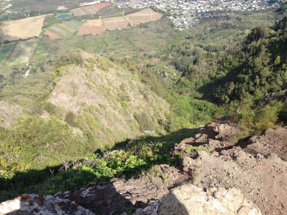 The view from where we were sitting at the top looking straight down.
