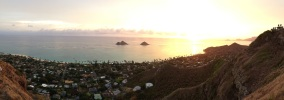 Sunrise over Lanikai. Beautiful!
