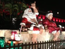 Santa and Mrs. Claus Hawaii style.