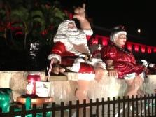 Santa and Mrs. Claus Hawaii style.