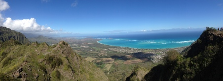 Panoramic of the windward coast from the top of Mariner's Ridge.
