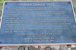 Father Damien Plaque