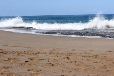 Waves at Papohaku Beach