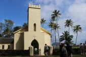 The last of several churches built by Father Damien. His grave is right outside the church.