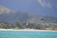 Kite Surfers taking advantage of the wind!