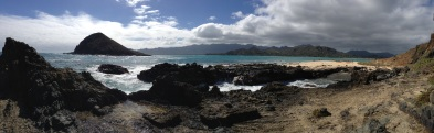 Panoramic view from Moke Nui.