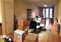 Boxes everywhere.