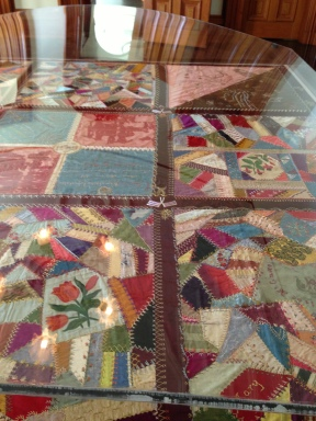 Queen Lili`uokalani made this quilt while imprisoned.