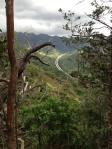 Most likely my favorite picture from the hike. This the H3 going into the hills headed towards Kaneohe.