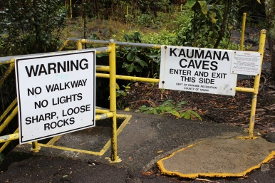 Kaumana Caves entrance