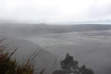 The edge of Kilauea Crater.