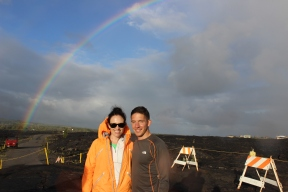 Josh and I with the rainbow.