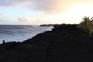 Kaimu beach shoreline.