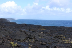 Newer lava at the end of Chain of Craters Road