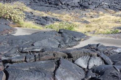More lava where the road is/was/should be.