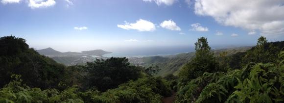Looking back at Hawaii Kai and Koko Head.