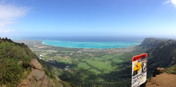 The view at the top. Quite worth it. The view windward coast never gets old.