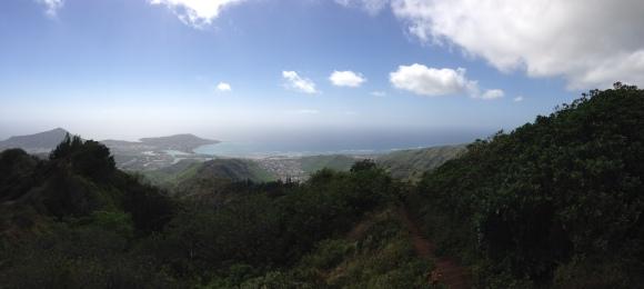 Behind us, Hawaii Kai.