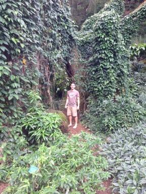 Josh after walking through the vines.