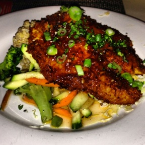 Fresh fish coconut crusted served with sweet & spicy lilikoi sauce.