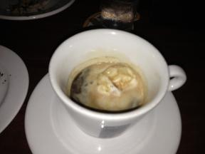 Affogato...an espresso float.