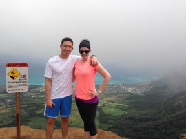 Josh and I at the top of Kuli`ou`ou trail.