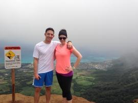 Josh and I at the top of Kuli`ou`ou trail.