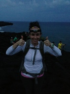Ready for the hike back! Headlamp and all!
