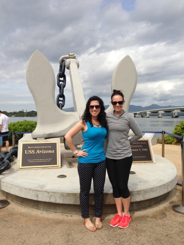Emel and I at Pearl Harbor.