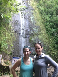 Emel and I at Manoa Falls.