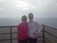 Emel and I at the top of the lighthouse hike.