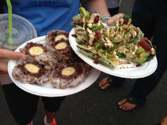Sushi Sliders and Purple Banana Malasadas..amazing!