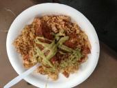 Cajun ono with fried rice