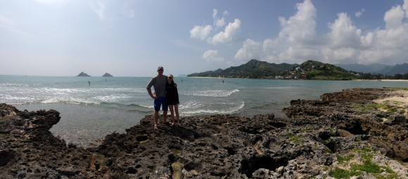 Becca and Ben on Popoi'a (Flat Island).