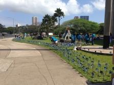 Volunteers planting pinwheels!