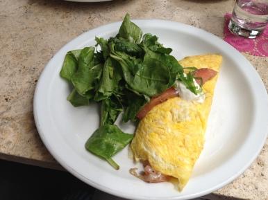 Josh's salmon omlet.