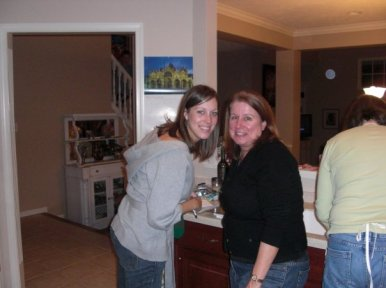 Krista and Cerelle at Thanksgiving 2008.