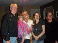 Bob, Olivia, Bailey, Janelle and Cerelle. Olivia's Birthday February 2011.