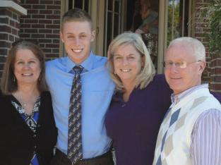 Cerelle, Kyle, Jan and Bob. Kyle's Homecoming 2012.