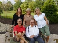 Sibling photo with their Dad. Kenny, Grandpa, Cerelle, my mom and Jan. September 2009.