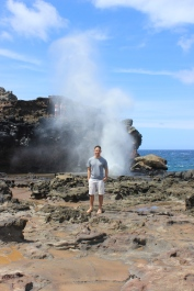 Josh and the blowhole in action!