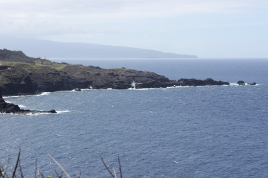 A view of the blowhole from down the road.