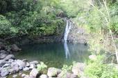 Upper Puohokamoa Falls.