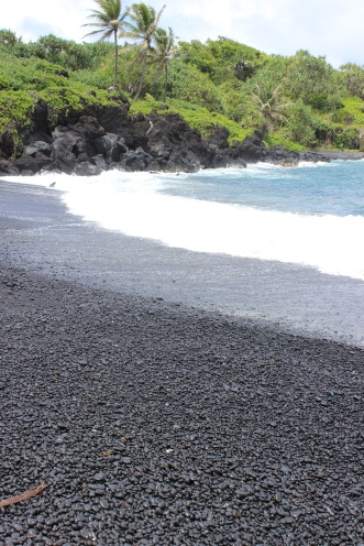 Pa`iloa Black Sand Beach