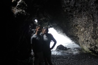 Cool cave..the ocean is coming in behind us.