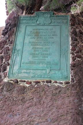 Ka`ahumanu's plaque.