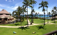 A beautiful picture of the view off of our balcony. I'm pretty sure we couldn't have asked for anything nicer!