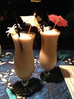 Delicious drinks. Almost like a piña colada but with a hint of chocolate.