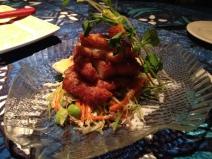 Appetizer: Wasabi calamari.