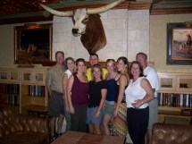 Kenny, Denise, Krista, Sam, my mom, me, Krista, Cerelle, John. Austin, Texas 2007.